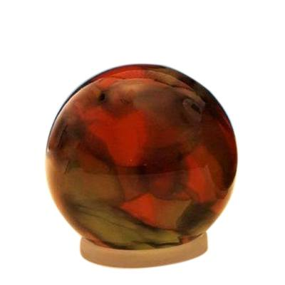 Autumn Orb Small Glass Pet Urn