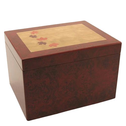 Autumn Wood Cremation Urn