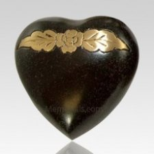 Avalon Blackstone Heart Keepsake Cremation Urn