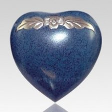 Avalon Blue Heart Keepsake Cremation Urn