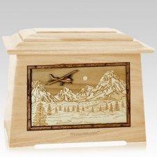 Aviation Maple Aristocrat Cremation Urn