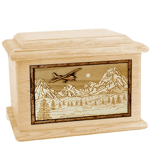 Aviation Maple Memory Chest Cremation Urn