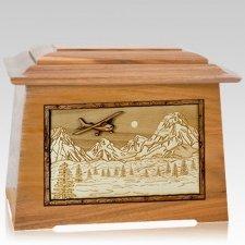 Aviation Oak Aristocrat Cremation Urn