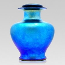 Azure Glass Cremation Urn