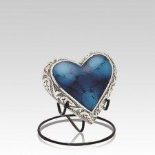 Azure Heart Keepsake Urn