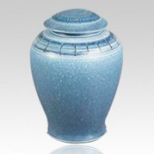 Cerulean Ceramic Cremation Urn