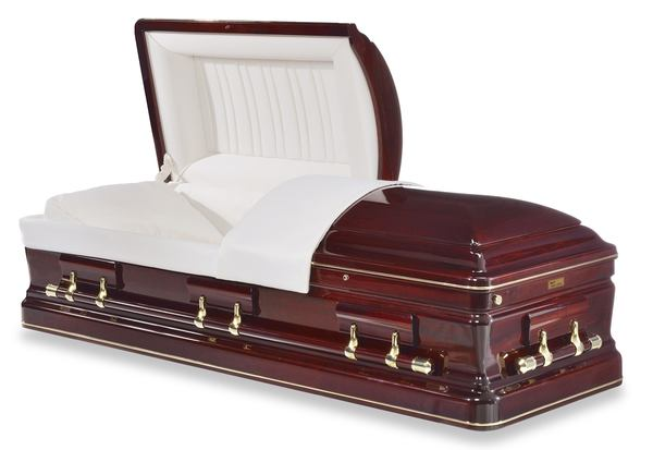 Bordeaux Cherry Wood Casket