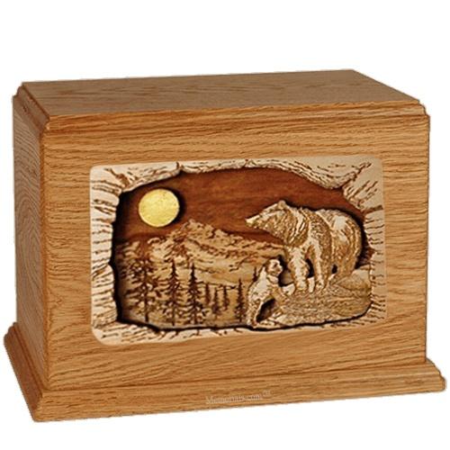 Bears Mahogany Companion Urn