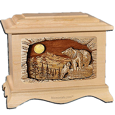 Bears Maple Cremation Urn for Two