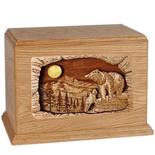 Bears Oak Companion Urn