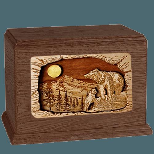 Bears Walnut Companion Urn