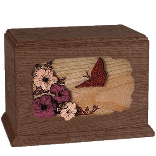 Butterfly Walnut Companion Urn