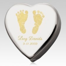 Baby Feet Prints Keepsake Box