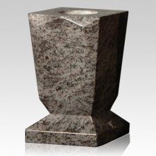 Bahama Blue Beveled Granite Vase