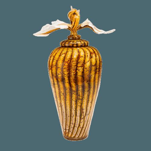 Batik Jar with Avian Art Cremation Urn