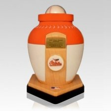 Baltimore Orioles Baseball Cremation Urn