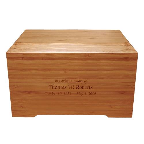 Bamboo Distinction Green Cremation Urn