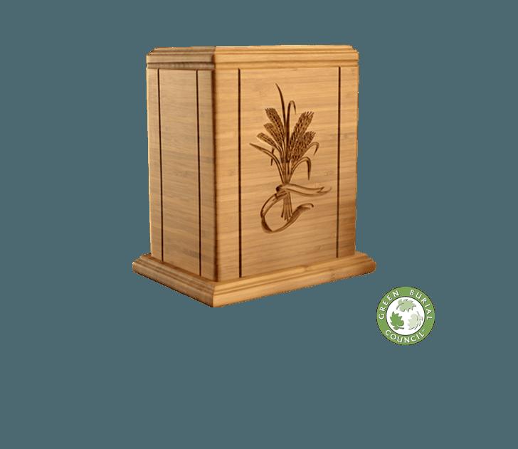 Bamboo Wheat Cremation Urn