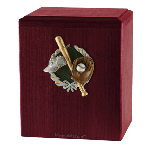 Base Ball Rosewood Cremation Urn