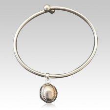 Baseball Ash Cremation Bracelet