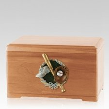 Baseball Fan Light Cherry Cremation Urn
