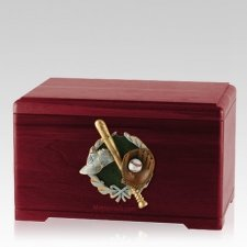 Baseball Fan Rosewood Cremation Urn
