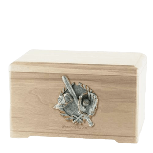 Baseball Tribute Maple Cremation Urn