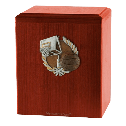 Basket Ball Cherry Cremation Urn