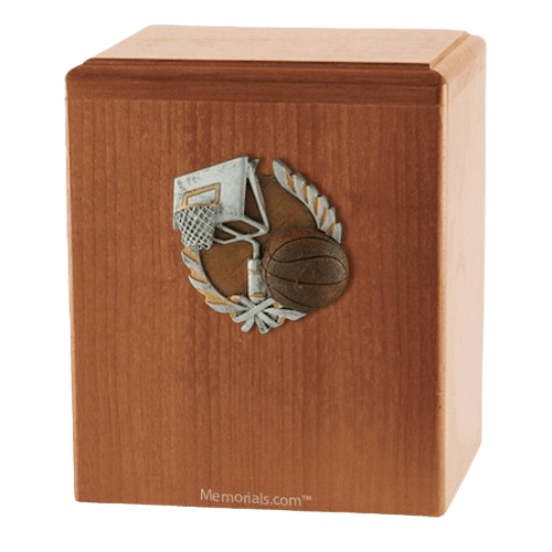 Basket Ball Light Cherry Cremation Urn