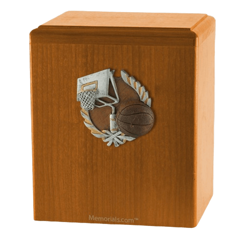 Basket Ball Oak Cremation Urn