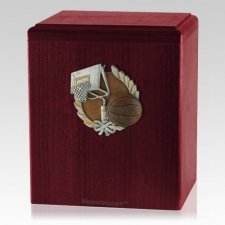 Basket Ball Rosewood Cremation Urn
