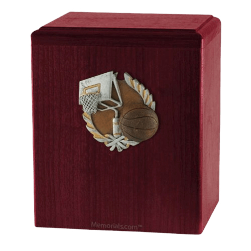 Basket Ball Rosewood Cremation Urn