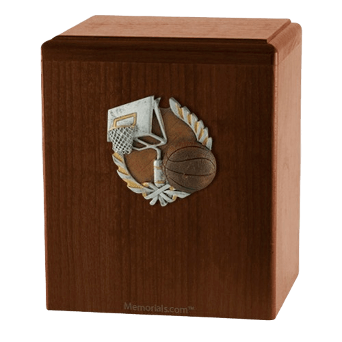Basket Ball Walnut Cremation Urn