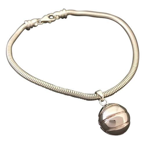 Basketball Cremation Bracelet