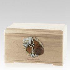 Basketball Fan Maple Cremation Urn