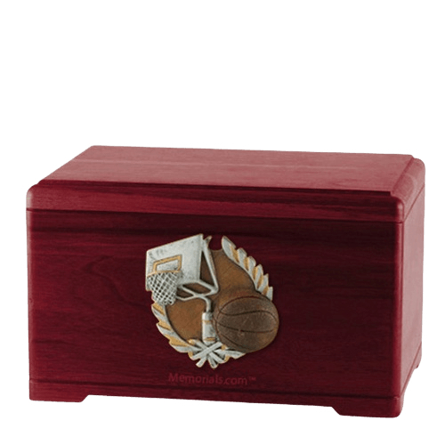 Basketball Fan Rosewood Cremation Urn