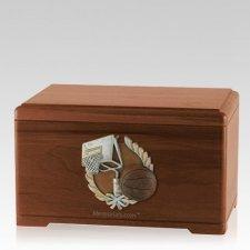 Basketball Fan Walnut Cremation Urn