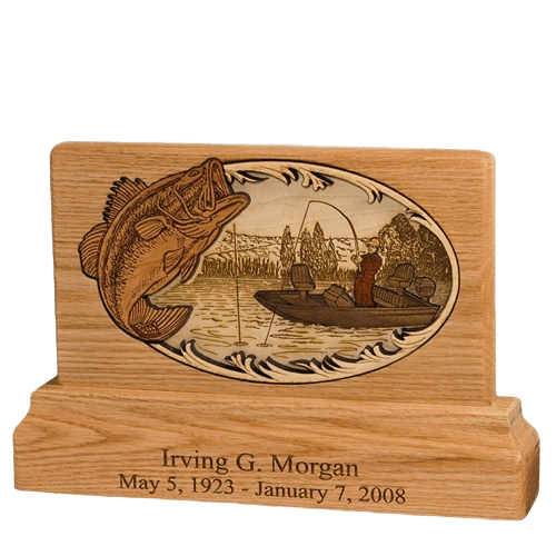 Bass Fishing Keepsake Cremation Urn
