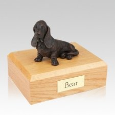 Basset Hound Bronze Large Dog Cremation Urn