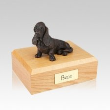 Basset Hound Bronze Medium Dog Cremation Urn