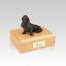 Basset Hound Bronze Small Dog Cremation Urn
