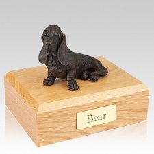Basset Hound Bronze X Large Dog Cremation Urn