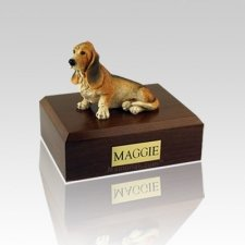 Basset Hound Medium Dog Urn