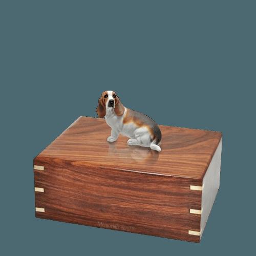 Basset Hound Small Doggy Urn