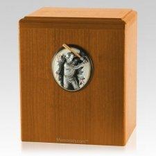 Batter Up Oak Cremation Urn
