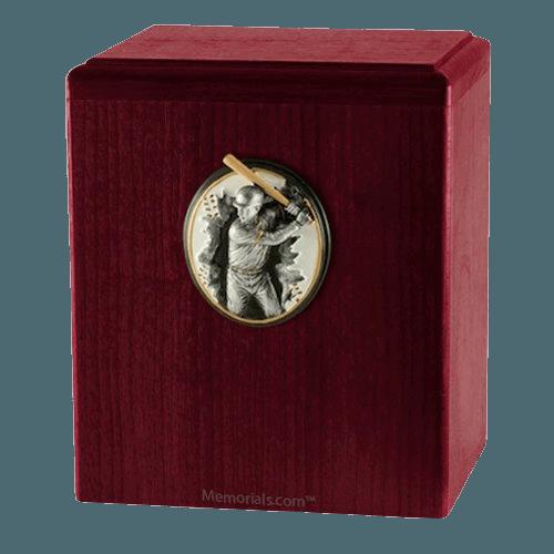 Batter Up Rosewood Cremation Urn