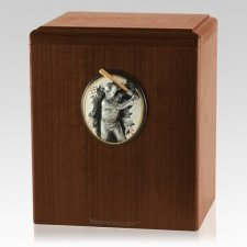 Batter Up Walnut Cremation Urn