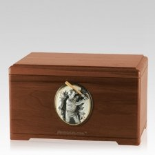 Batter Walnut Cremation Urn