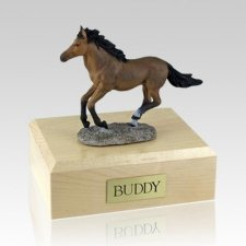 Bay Running Large Horse Cremation Urn
