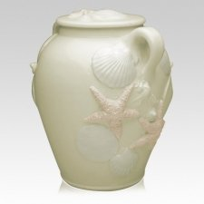 Beach Life Ceramic Cremation Urn